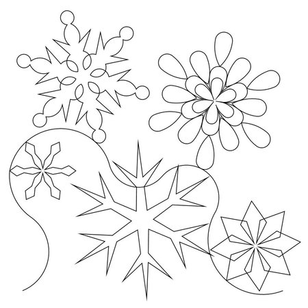 Free Snowflake Quilting Stencil : Shop Category: Christmas / Winter Product: Snowflake E2E 2013 Simple